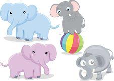 Free Various Elephants Royalty Free Stock Photography - 8848017
