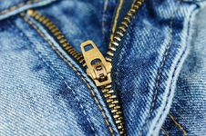 Free Zipper Of A Stylish Jeans Stock Photography - 8848202