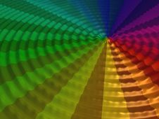 Centered Rainbow Wave Royalty Free Stock Photos