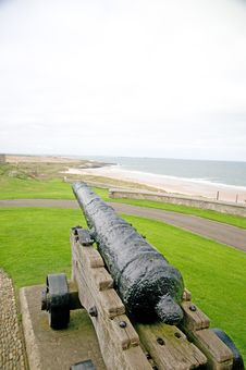 Cannon And The Coast Royalty Free Stock Photo
