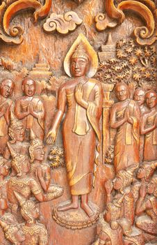 Traditional Thai Style Wood Carving