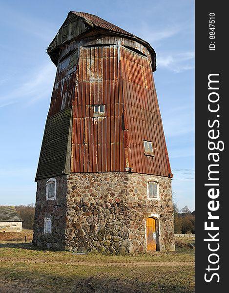 Derelict wind mill