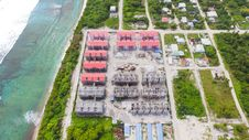 Free Aerial View Of Red Gray Structures Near Ocean At Daytime Royalty Free Stock Photography - 88415637