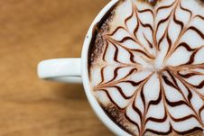 Free Artistic Decoration On Cup Of Coffee Royalty Free Stock Photo - 88415655