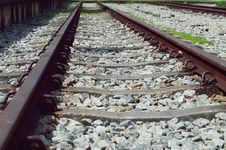 Free Railroad Track Royalty Free Stock Photo - 88416565