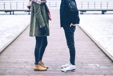 Free Anonymous Couple Chatting Stock Photos - 88493193