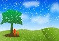 Free Rain Background Royalty Free Stock Photography - 8853837