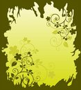 Free Green Floral Background Royalty Free Stock Photography - 8854167