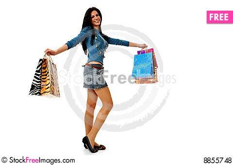 Free Shopping Fun Royalty Free Stock Photos - 8855748