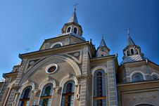 Free Church On A Blue Sky Background. HDR. Royalty Free Stock Images - 8850569