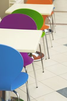Free Cafe Chairs And Tables Stock Photography - 8850722