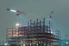 Free Cranes On Construction Site Royalty Free Stock Images - 8850839