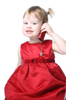 Free Talking Girl Royalty Free Stock Photography - 8850927