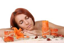 Free Girl Relaxing In Spa Salon Stock Photography - 8851062