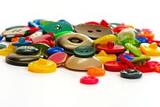 Colorful Plastic Buttons Stock Photography