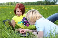 Free Girls In Grass Royalty Free Stock Photos - 8851538