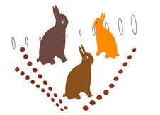 Free Tree Easter Bunnies Stock Photography - 8851732