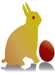 Free Bunny With Egg Stock Photography - 8851742