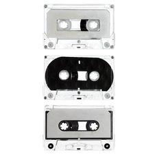 Free Three Old Cassettes Isolated On White Royalty Free Stock Image - 8851966
