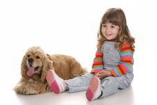 Free Girl And Dog Royalty Free Stock Images - 8852339