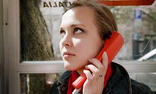 Free Beauty Woman It Telephone Box Stock Image - 8853781