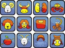 Free Zodiac Iconset (1) Stock Photos - 8854433