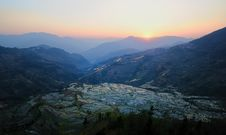 Free Sunset Of YuanYang Rice Terrace Stock Photos - 8854953