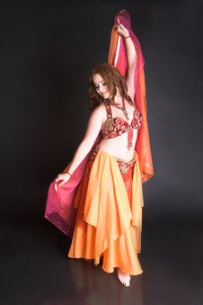 Free Belly Dancer In Red Stock Images - 8855064