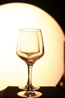 Free Two Glasses In A Line Stock Image - 8855171