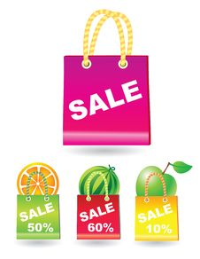 Free Sale Shopping Bags Royalty Free Stock Photography - 8855257