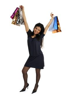 Free Happy Shopping Woman Royalty Free Stock Photography - 8855867