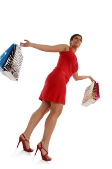 Free Happy Shopping Woman Royalty Free Stock Photos - 8855908