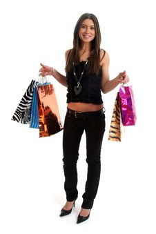 Free Happy Shopping Woman Stock Images - 8855964