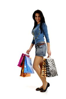 Free Happy Shopping Woman Royalty Free Stock Photo - 8856115