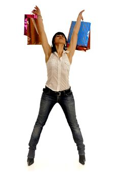 Free Happy Shopping Woman Stock Photography - 8856202
