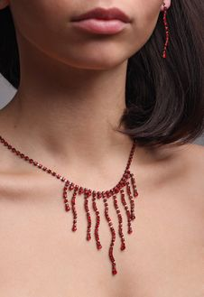 Free Beautiful Adornment On Neck Royalty Free Stock Images - 8856219