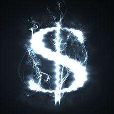 Free Burning Dollar Stock Photo - 8857220