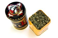 Free Two Boxes With The Chinese Green Tea Stock Photos - 8857713