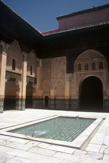 Palace In Marrakesh,Morocco Royalty Free Stock Image