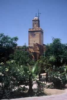 Mosque In Marrakesh,Morocco Stock Photo