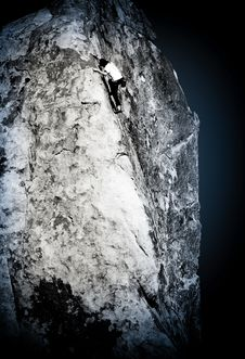 Free Rock Climber, Joshua Tree Royalty Free Stock Photo - 8858125