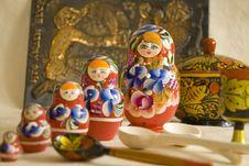 Free Matryoshka Wooden Spoon Royalty Free Stock Image - 8858596