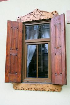 Free Carved Wooden Window Stock Photo - 8858790