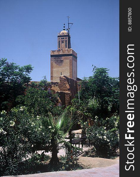 Mosque in Marrakesh,Morocco