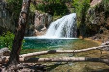 Free Waterfall Trail On Fossil Creek Royalty Free Stock Image - 88560626