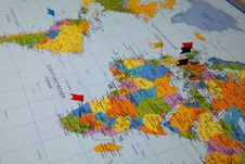 Free Atlas Showing South America And Africa Royalty Free Stock Photos - 88563438