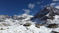 Free Mountain Peak In Winter Royalty Free Stock Photos - 88563578