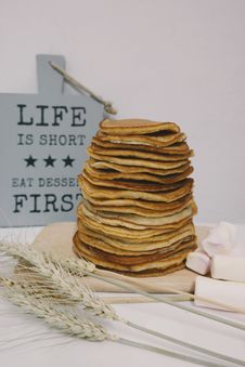 Free Stack Of Pancakes Stock Images - 88564304