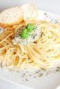 Free Spaghetti With Pesto Sauce Stock Image - 8864741
