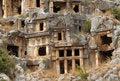Free Rock Tombs, Myra, Turkey Royalty Free Stock Image - 8868756